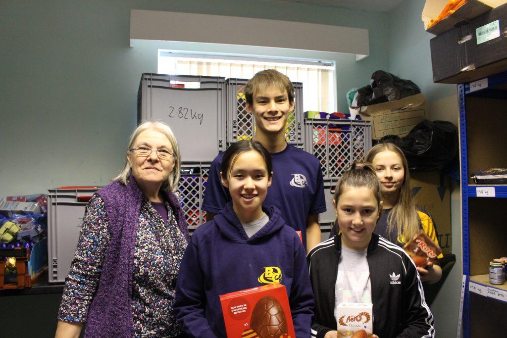 Blackburn Centurions donate to Blackburn food bank